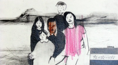 'Family values', pencil on paper, 2012