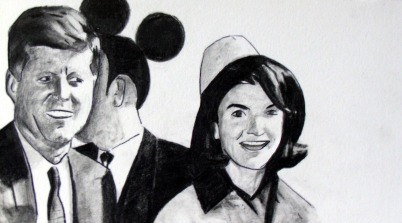 'Who killed Kennedy', pencil on paper, 2008