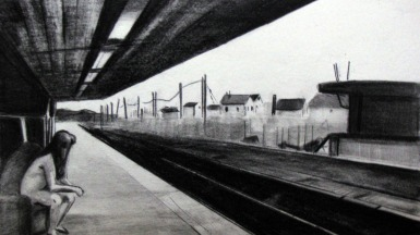 'Waiting', pencil on paper, 2008
