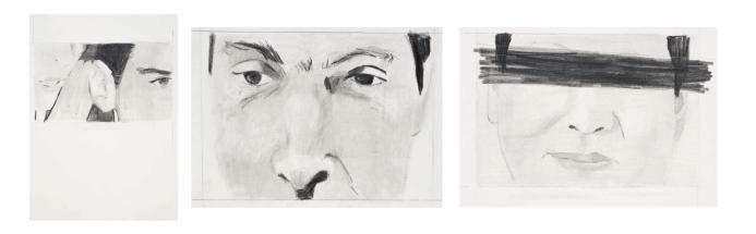 'Gossip', pencil on paper, 2012